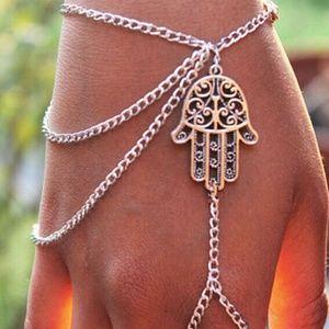 Boho Hamsa Fatima Hand Harness NWT